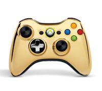 Wireless Controller Gold Chrome For Xbox 360 Gamepad Brand New 2E