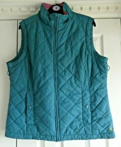 Joules Lightweight Quilted Bodywarmer / Gilet Size 16 Superb Fully Lined