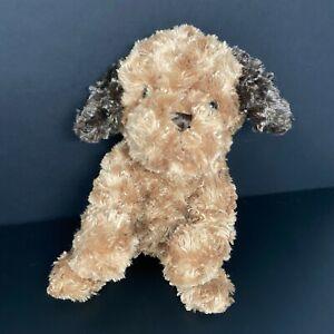 Dan Dee Dog Puppy Plush Brown Swirl Rosette Fur Dark Brown Ears Spaniel Lovey