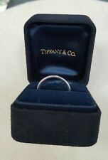 Tiffany & Co.Lucida 2mm Platinum Wedding Band Size 6.75 Complete w/ Box