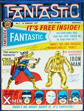FANTASTIC #1-MARVEL COMICS UK-SIGNED LARRY LIEBER & JOE SINNOTT-IRON MAN-THOR