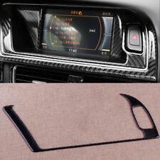 Carbon Fiber GPS Navigator Panel Trim Outer Frame for Audi A4 A5 S4 S5 34.5x12cm