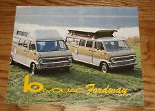 Original 1973 - 1974 Bivouac Fordway Camper Van Sales Brochure 73 74 Ford