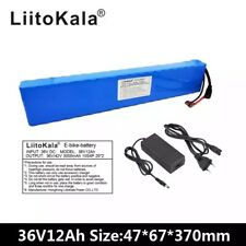 36V 12Ah 500W High power&capacity 42V 18650 lithium battery pack ebike electric