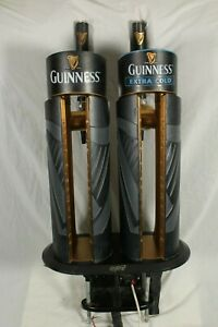 Guinness Dual Beer Pump Tap Extra Cold Double Font for Home Bar Mancave Pub RARE