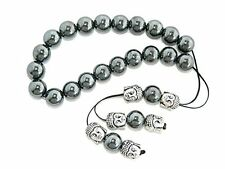 B-0609 - Loose String Greek Komboloi Prayer Beads Worry Beads 10mm Hematite
