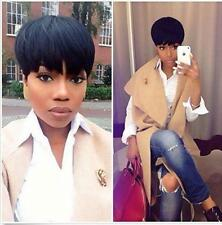 Women Short 100% Virgin Brazilian Wigs Straight  Human Hair Wig No Lace Wig