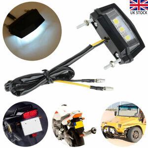 Motorcycle Universal LED Rear Tail Light License Number Plate Lamp Light 12V