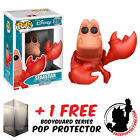 FUNKO POP DISNEY THE LITTLE MERMAID SEBASTIAN VINYL FIGURE + FREE POP PROTECTOR