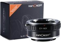 K&F Concept lens Adapter for Contax/Yashica CY C/Y Lens to Sony E NEX Camera