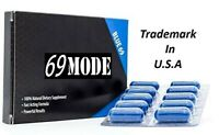 69MODE Fast Acting Male Amplifier for Strength Performance Energy BLUE 10cap