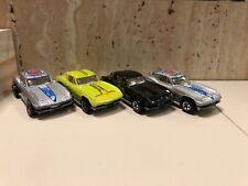 X4 Hot Wheels Chevrolet Corvettes Metal Bases Vintage (Unboxed)