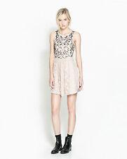 Zara Polyester Skater Short/Mini Dresses