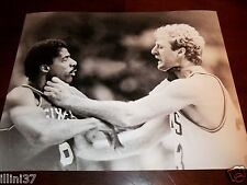 LARRY BIRD JULIUS ERVING DR J BOSTON CELTICS 76ERS 11X14 CHOKE FIGHT PHOTO