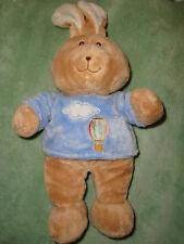 DOUDOU LAPIN rabbit bleu montgolfiere 30 cm GIPSY ,TBE