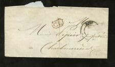 FRANCE 1843 LYON LETTRE...CL BOXED...MAIRIE LETTERHEAD