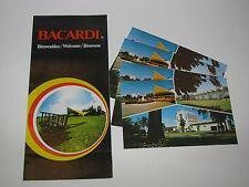 Vtg 1980s Bacardi Rum Distillery San Juan Welcome Guide + 4x Post Card Lot Set