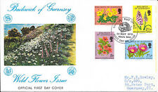 GUERNSEY F.D.C. 24/5/1972 SG 72-5 WILD FLOWERS WITH INSERT.