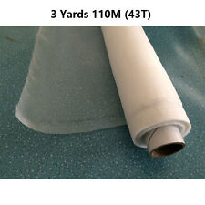 3 Yards 110 Mesh Count (43T)Screen Printing Fabric Mesh White Color New Size