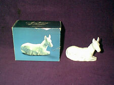 NEW VINTAGE 1984 AVON NATIVITY WHITE BISQUE PORCELAIN THE DONKEY FIGURINE
