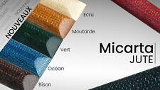 Plaque Micarta Jute 126x60mm multicolore / Stratifié décoratif / coutellerie