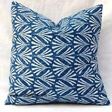 Indian Cushion Cover Indigo Printed Handmade Decorative Cotton Pillow Cases