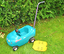 Little Tikes Open Coupe Car in Turquoise Blue with Parent Push Handle. Wirral.