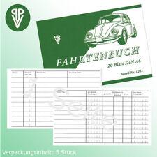 Fahrtenbuch 20 Blatt DIN A6   5 stück