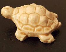 """Vintage Miniature Beige Ceramic 1.5"""" x 1"""" Turtle"""