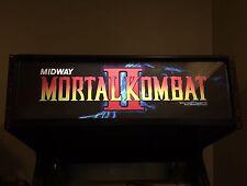 Mortal Kombat 2 Arcade Marquee Midway MK2 MKII Translight Header Sign Backlit