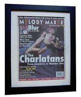 THE CHARLATANS+MELODY MAKER 1995+ORIGINAL+VINTAGE+POSTER+FRAMED+FAST GLOBAL SHIP