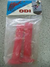 NOS ODI Attack Flanged BMX Grips - Translucent RED USA Made Brian Lopez