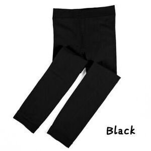 Kids Girls Leggings Trousers Winter Thermal Fleece Pants Cotton Warm Age 1-13