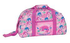 SLOTH Girls Pink Sports Holdall Travel Holiday Bag Gym PE Weekend Large Bag 50cm