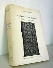 Paladini/Castorina,LETTERATURA LATINA.Schemi e problemi,1966 Adriatica[storia