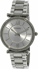 Fossil Women's Carlie ES4341 Silver Stainless-Steel Japanese Quartz Dress Watch