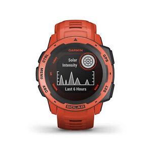 GARMIN Instinct Solar Rot Bluetooth Smartwatch Pulsmesser Schrittzähler Sportuhr