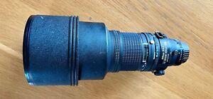 Nikkor AF ED 300mm f2.8 Professional Superfast Telephoto lens in case.