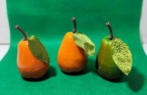 lot of 3 artificial Fruit Pear Kitchen Decor