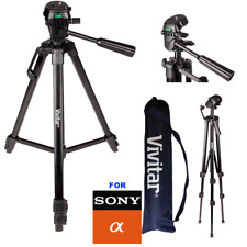 "52"" VIVITAR TRIPOD WITH QUICK RELEASE FOR SONY ALPHA DSLR AND MIRRORLESS DSLR"