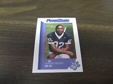 1997 PENN STATE FOOTBALL CARD -THE SECOND MILE CUNCHO BROWN