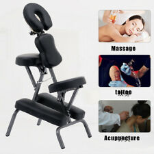 Portable Foldable Tattoo Spa Massage Chair Pu Leather Pad Heavy Duty Metal Frame