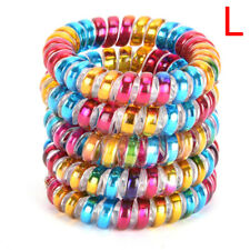 5 PCS Elastic Telephone Wire Head Ties Hair Band Rope Ponytail Jewelry Ring WL