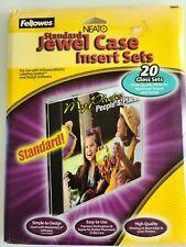 New Fellowes Neato Standard Jewel Case Inserts 20 Gloss Sets 99947