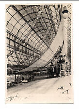 RARE ANTIQUE GRAF ZEPPELIN LZ 127 PHOTO IN HALL OUTSIDE with DURALUMIN