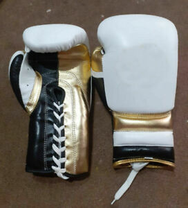 Custom Made Genuine Leather Boxing Gloves  Any Logo or Name No winning No Grant