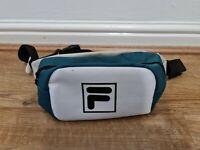 Fila Bum Bag Cross Body White Green One Size Adjustable New