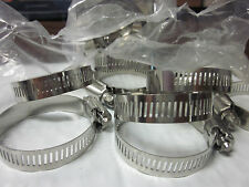 """100pc 2"""" Clamp Stainless Steel Hose Clamps 1-3/8"""" - 2"""" Goliath Industrial Tool"""