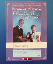 THEATRE FLYER PRESENT LAUGHTER SIGNED BY RICHARD WALSH [ LONDONS BURNING ]