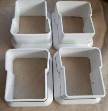 4 X uPVC SCULPTURED HANDRAIL BRACKETS CARAVAN DECKING PATIO IN WHITE